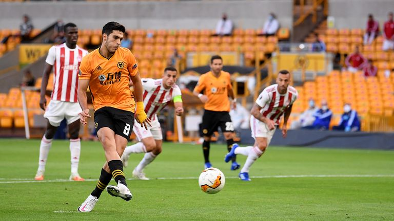 Raul Jimenez slotted his 27th goal of the season home from the penalty spot
