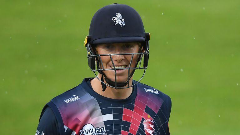 Zak Crawley's brisk start was cut off by rain at Canterbury