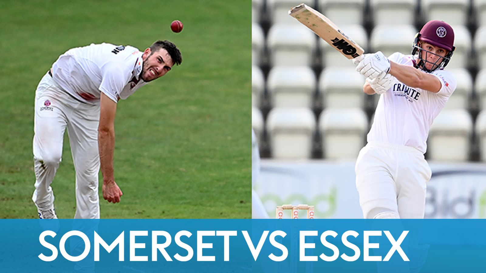 Bob Willis Trophy Final between Somerset and Essex on Sky Sports Cricket YouTube channel