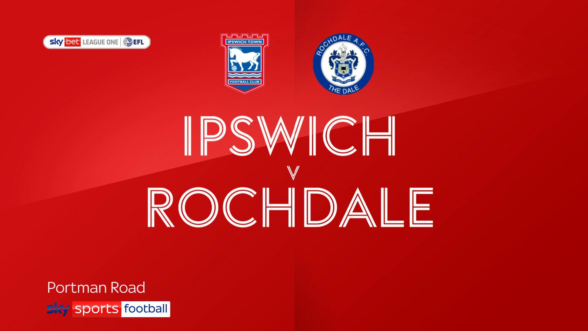 Leaders Ipswich sweep Rochdale aside