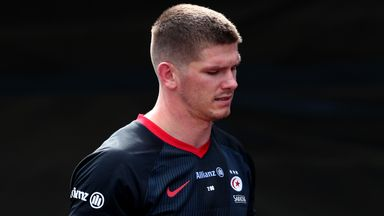 Owen Farrell was sent off for a high tackle in Saracens' loss to Wasps
