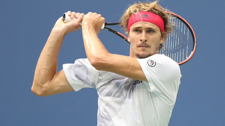 As well as leading by two sets to love, Zverev also served for the match in the fifth set