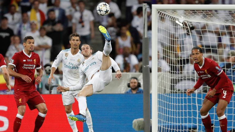 Bale scored a memorable goal for Real in the 2018 Champions League final against Liverpool
