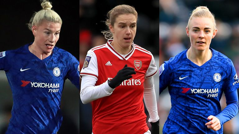 Beth England, holder Vivianne Miedema and Sophie Ingle are nominated