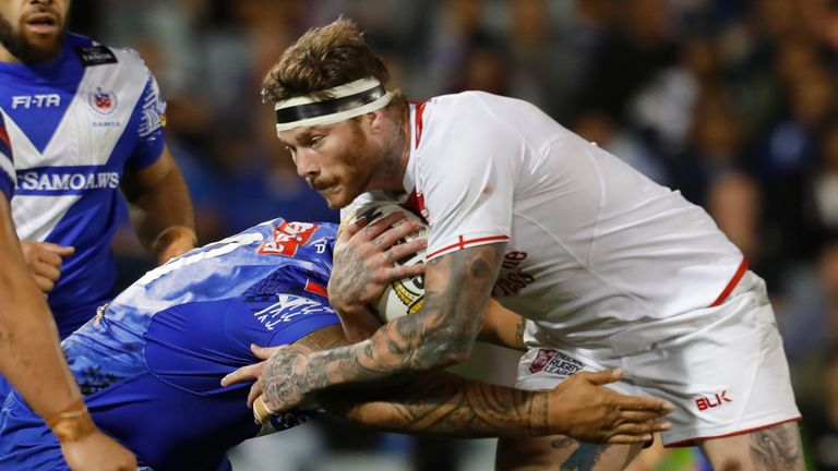 McQueen in action for England against Samoa in 2017