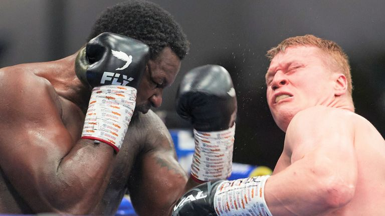 Whyte had floored Povetkin twice in the fourth round