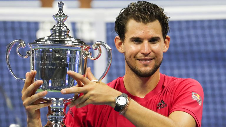 Dominic Thiem sealed his maiden Grand Slam title at the US Open