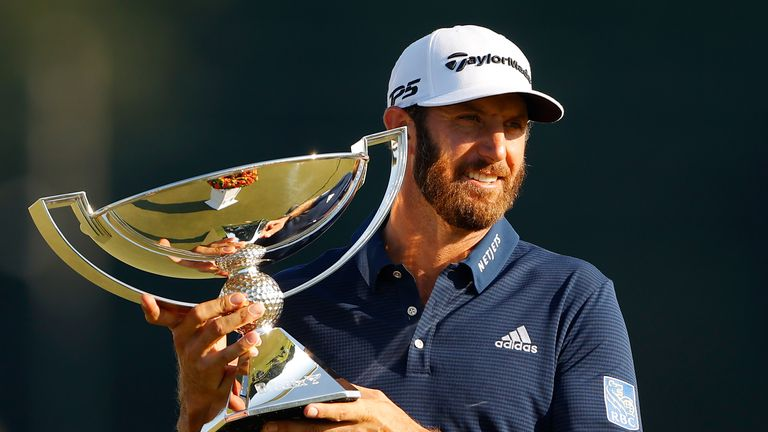 Johnson wrapped up a three-shot win at the Tour Championship