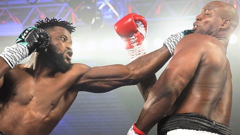 Efe Ajagba defeated Jonathan Rice by unanimous decision