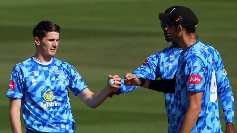 George Garton starred with bat and ball as Sussex overcame Middlesex