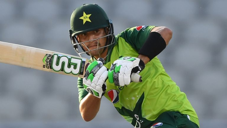 The best moments from Haider Ali's half-century on debut for Pakistan in the third T20 against England