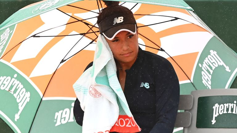 Heather Watson came off second best against Fiona Ferro