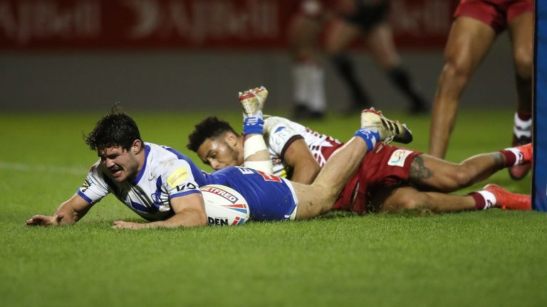 James Bentley was among the try-scorers for St Helens against Wigan