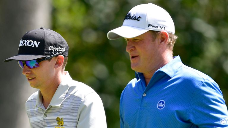 Catlin played alongside Jamie Donaldson (right) and Connor Syme on Saturday