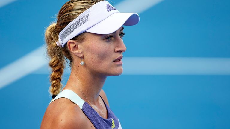 Kristina Mladenovic was critical of the way she has been treated inside the US Open bubble