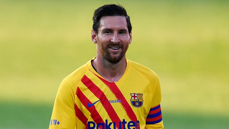 Messi came close to leaving Barcelona after handing in a transfer request earlier in the window
