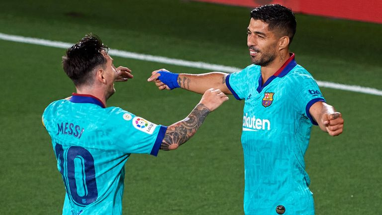 Luis Suarez and Lionel Messi struck up a strong friendship on and off the field at Barcelona