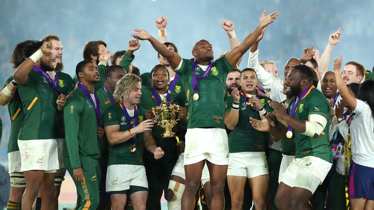 South Africa lifted the World Cup after beating England in the final last year