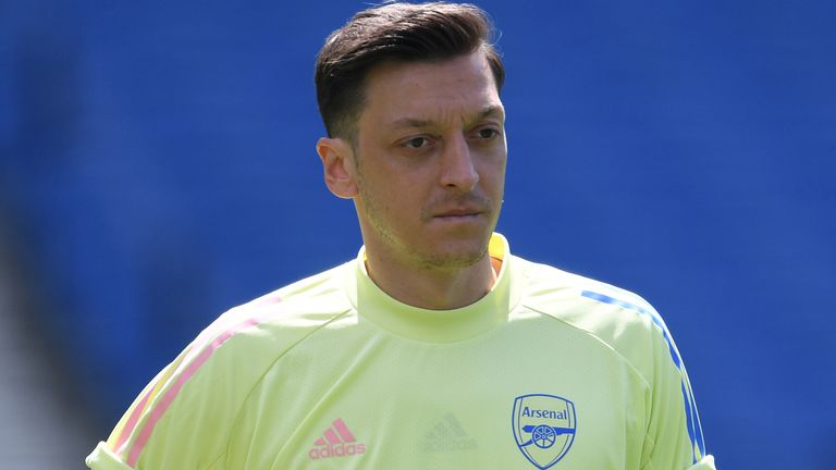Mesut Ozil is in the final year of his Arsenal contract