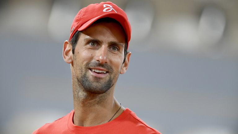 Novak Djokovic is chasing a second French Open title