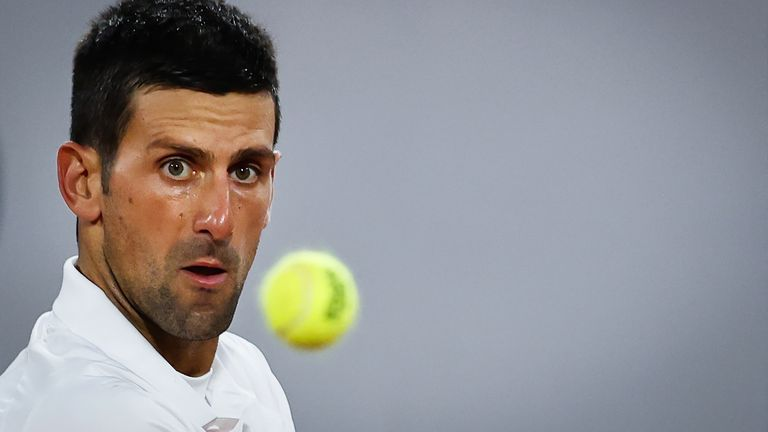 Novak Djokovic began his quest for a second French Open title in style