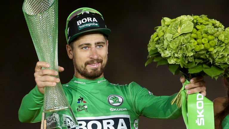 Peter Sagan has won the green jersey seven times in the last eight years