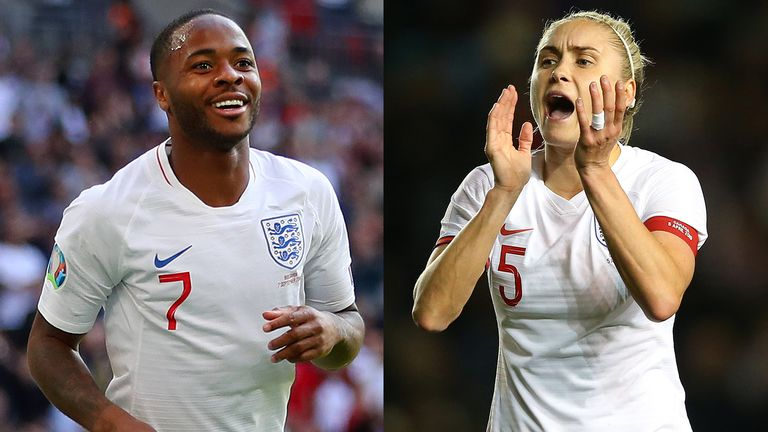 Raheem Sterling and Steph Houghton have been paid equally in 2020 when representing England