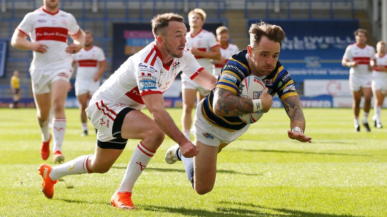Richie Myler was among the tryscorers for Leeds
