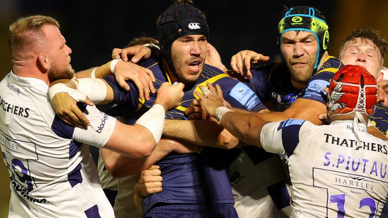 Andrew Kitchener was sent off for punching Siale Piutau, while the Bristol centre received a yellow card for his part in the incident