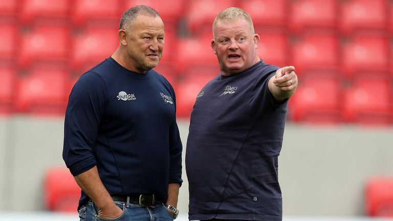 Steve Diamond (left) had made a 23 available for their game against Worcester