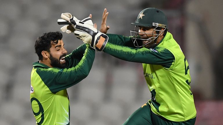 Shadab Khan (L) has been named vice-captain for ODIs and T20s but Sarfaraz Ahmed (R) has been dropped
