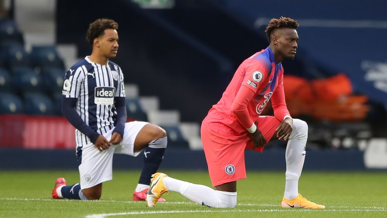 Footballers have been taking a knee ahead of Premier League matches this term