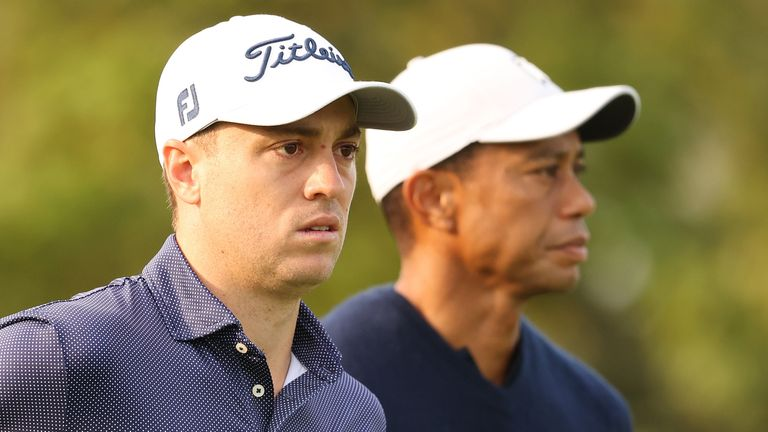 Justin Thomas leads the way on five under, but Tiger Woods is eight behind after round one