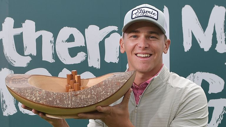 Tyler Koivisto gewann die Northern Ireland Open bei seinem Debüt auf der Challenge Tour