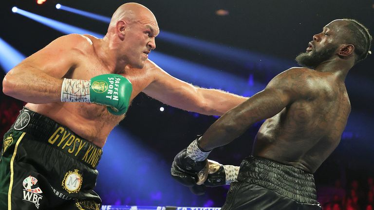 Tyson Fury stopped Deontay Wilder in the seventh round in Las Vegas