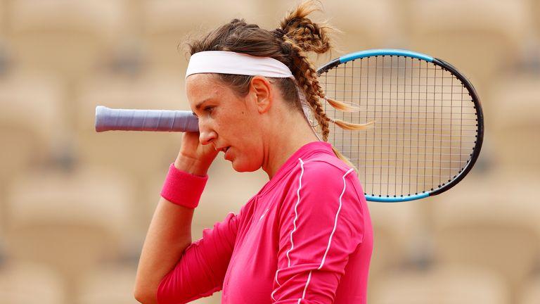 Victoria Azarenka hasn't made it past the third round in Paris since 2013