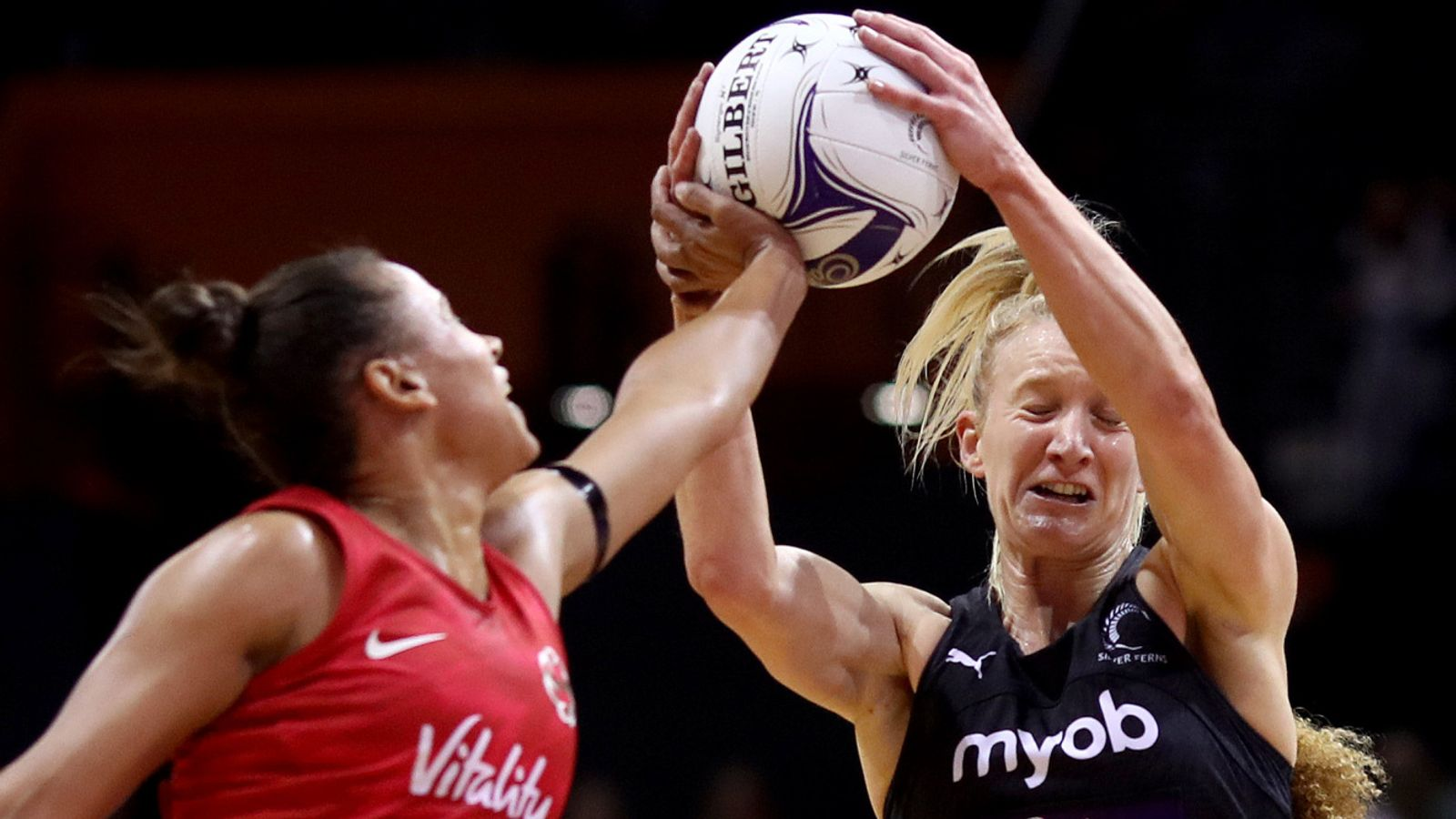 New Zealand 54-47 England: Silver Ferns rally to clinch series over impressive Roses