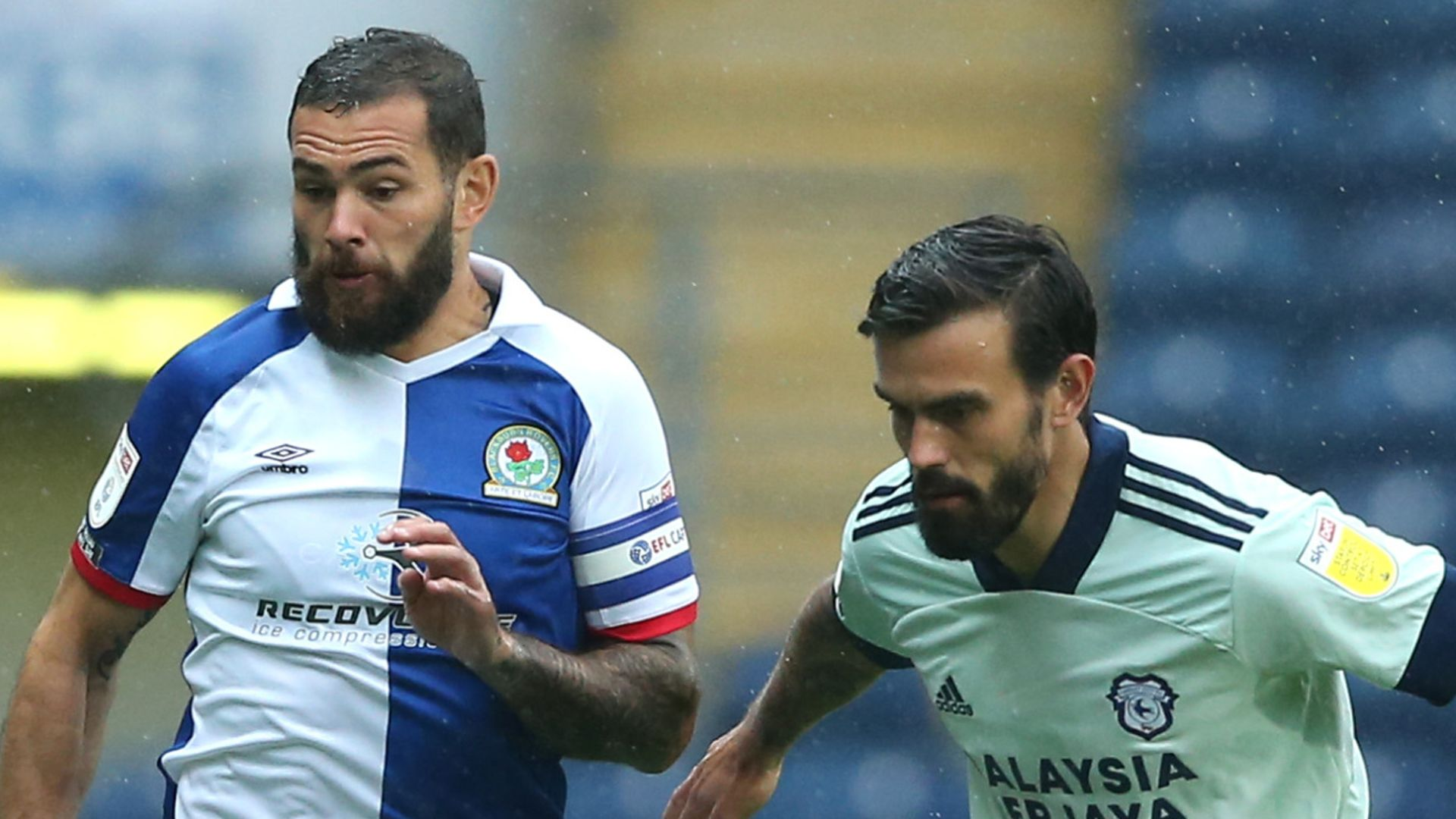 Blackburn held by 10-man Cardiff
