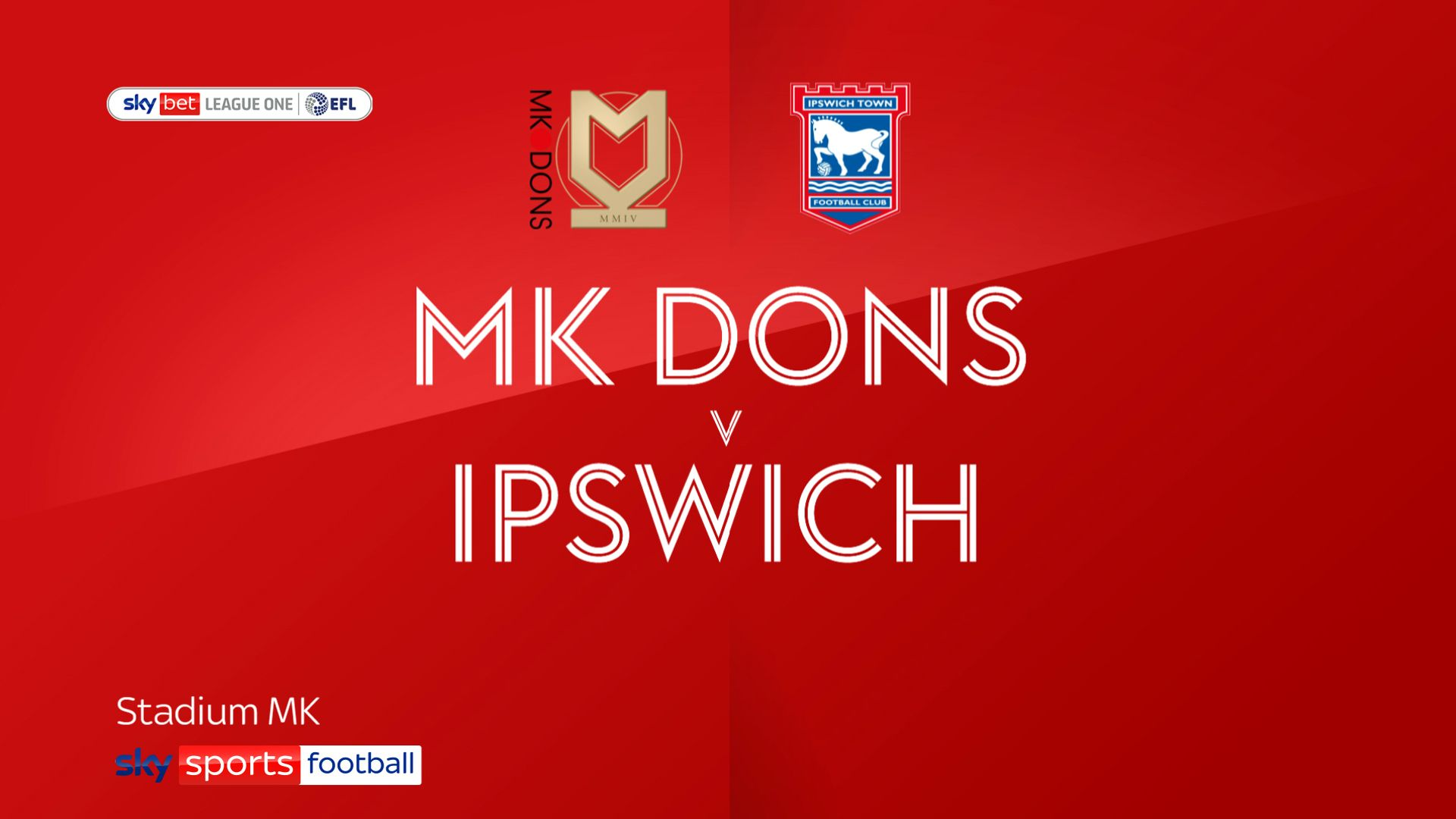 Mk Dons end Ipswich's perfect start