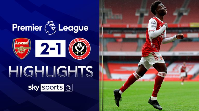 FREE TO WATCH: Highlights from Arsenal's win against Sheffield United