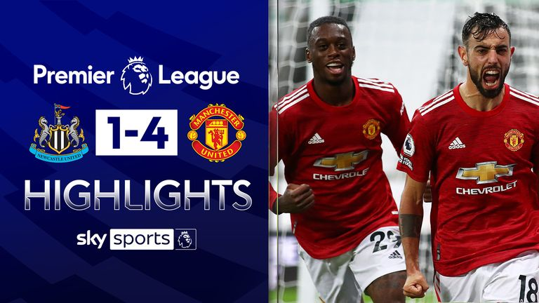 Highlights from Manchester United's win over Newcastle in the Premier League