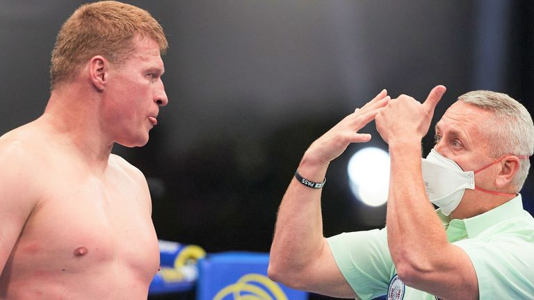 Povetkin was floored twice in the fourth round