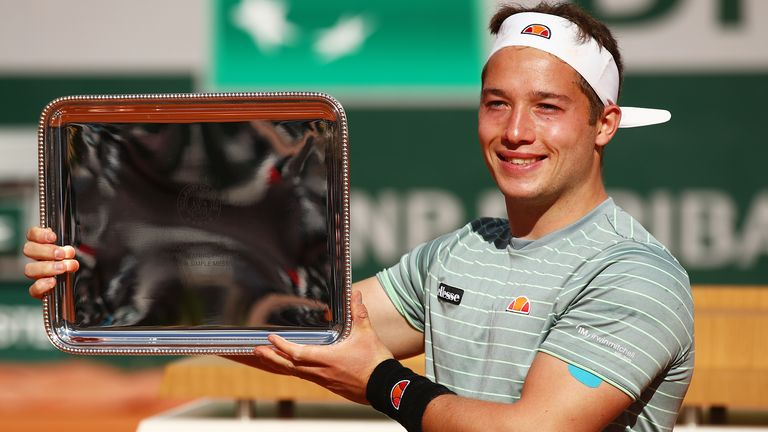 Alfie Hewett won the French Open wheelchair title for the second time