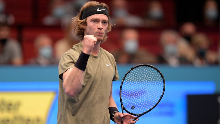 Andrey Rublev remains on course for a record fifth ATP title this season