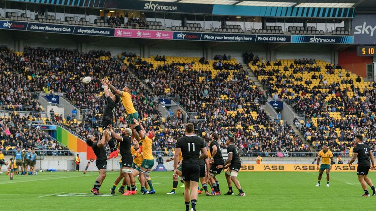 A large crowd was also in attendance as the sides drew 16-16 in the first Bledisloe Cup game in Wellington