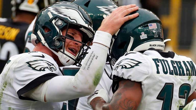Carson Wentz and Travis Fulgham have struck up an instant connection in Philadelphia