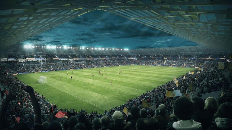 The new stadium in Belfast is set to accommodate over 34,000 fans