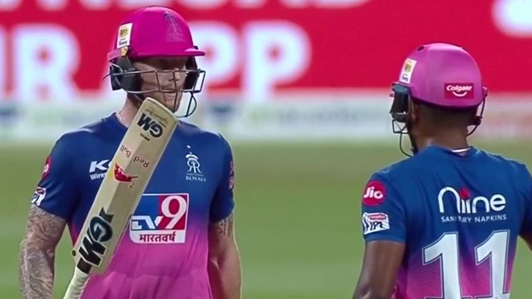 Ben Stokes (L) smashed an unbeaten 107 to steer Rajasthan to victory against Mumbai Indians