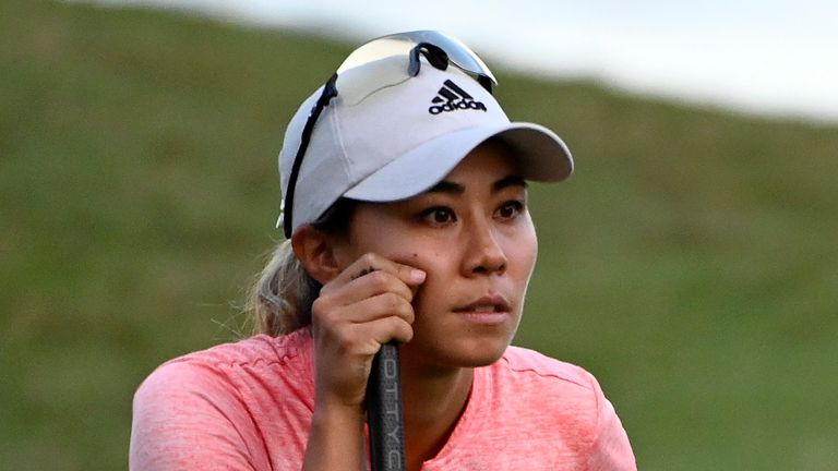 Danielle Kang holds a share of the early lead