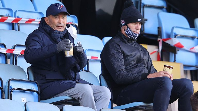 England coaches Eddie jones and John Mitchell were in the stands watching Wasps beat Bristol